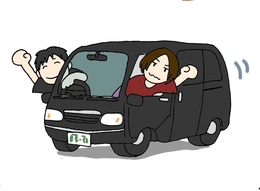 菅ひであき運転のブラックセイバー号にて東京巡りプラン