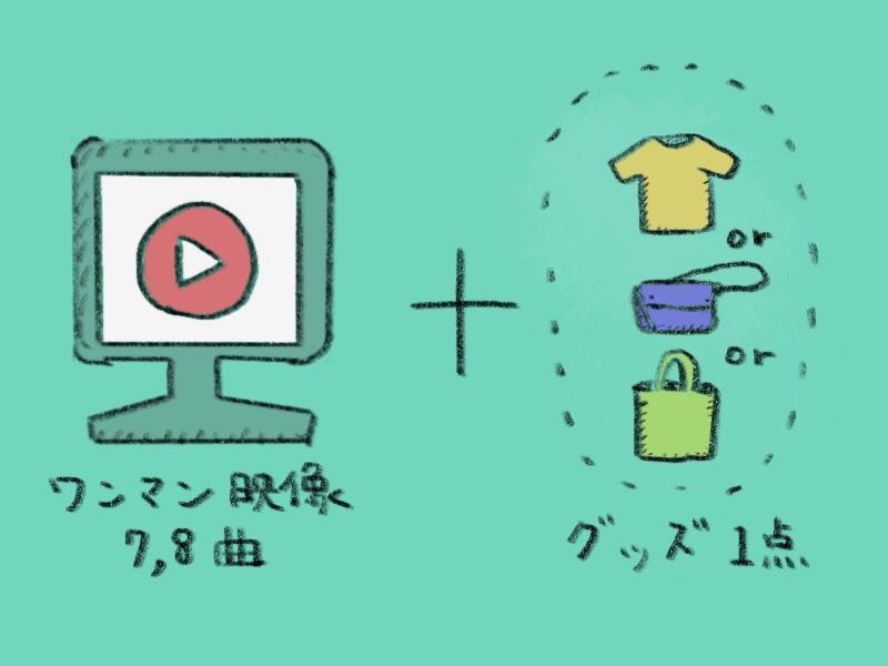 <ワンマン映像7〜8曲+お好きなグッズ1点プラン>