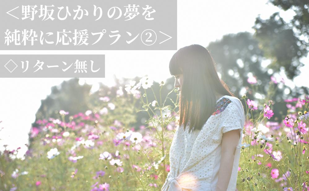 <野坂ひかりの夢を純粋に応援プラン②>