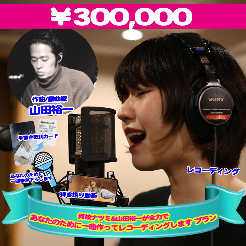 <何故ナツミ&山田裕一が全力であなたのために一曲作ってレコーディングしますプラン>