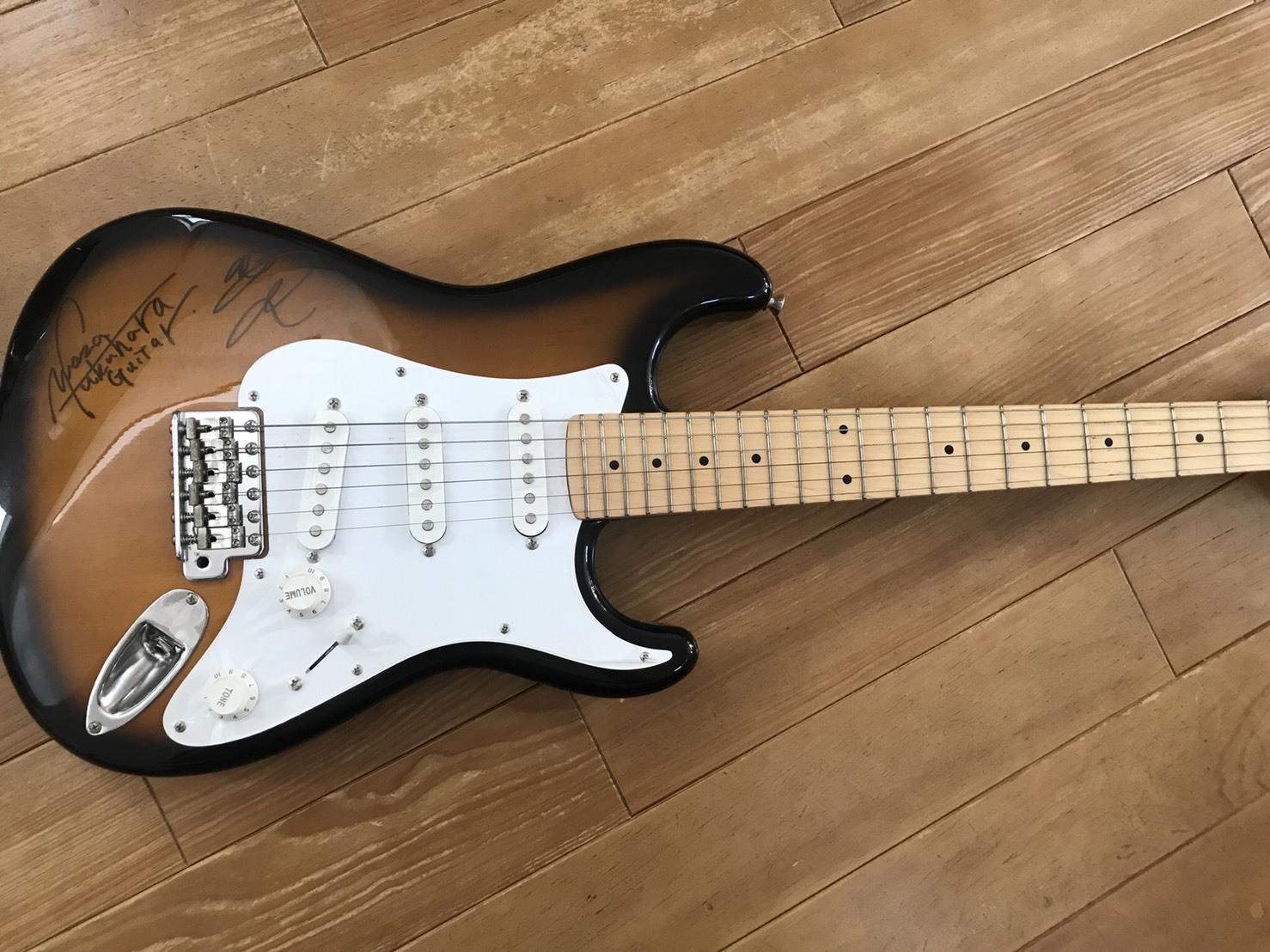 <僕が初めて買ったギター。ルーツを授けます。福原親子サイン入りギタープラン>