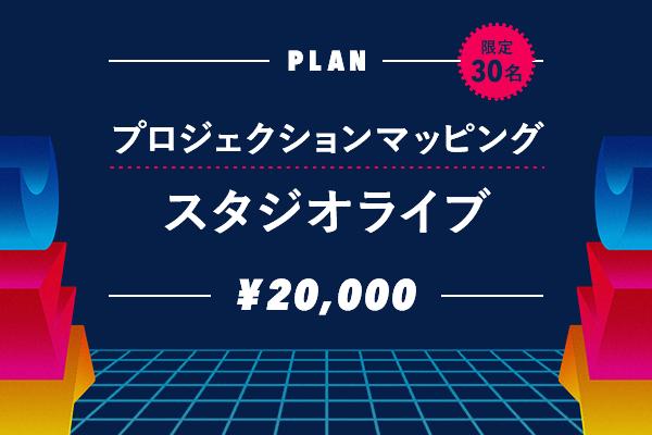 <プロジェクションマッピングスタジオライブ プラン>