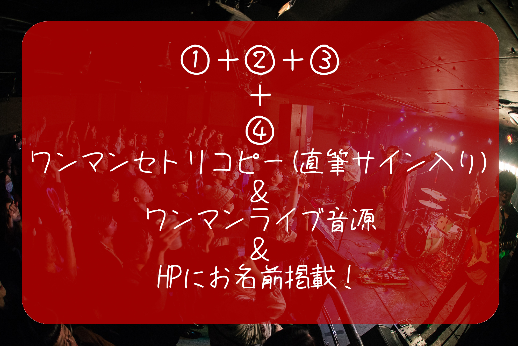 【ワンマンライブ堪能 プラン】