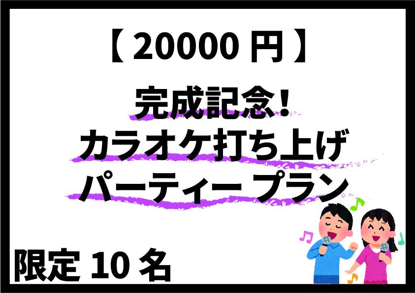 <完成記念カラオケ打ち上げパーティー プラン>