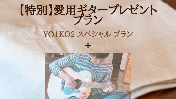 <【特別】愛用ギタープレゼント プラン>限定1名