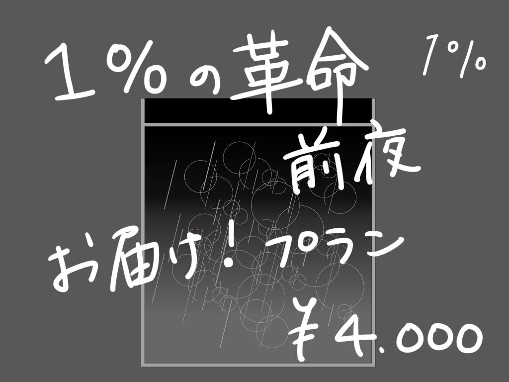 <「1%の革命前夜」お届け! プラン>