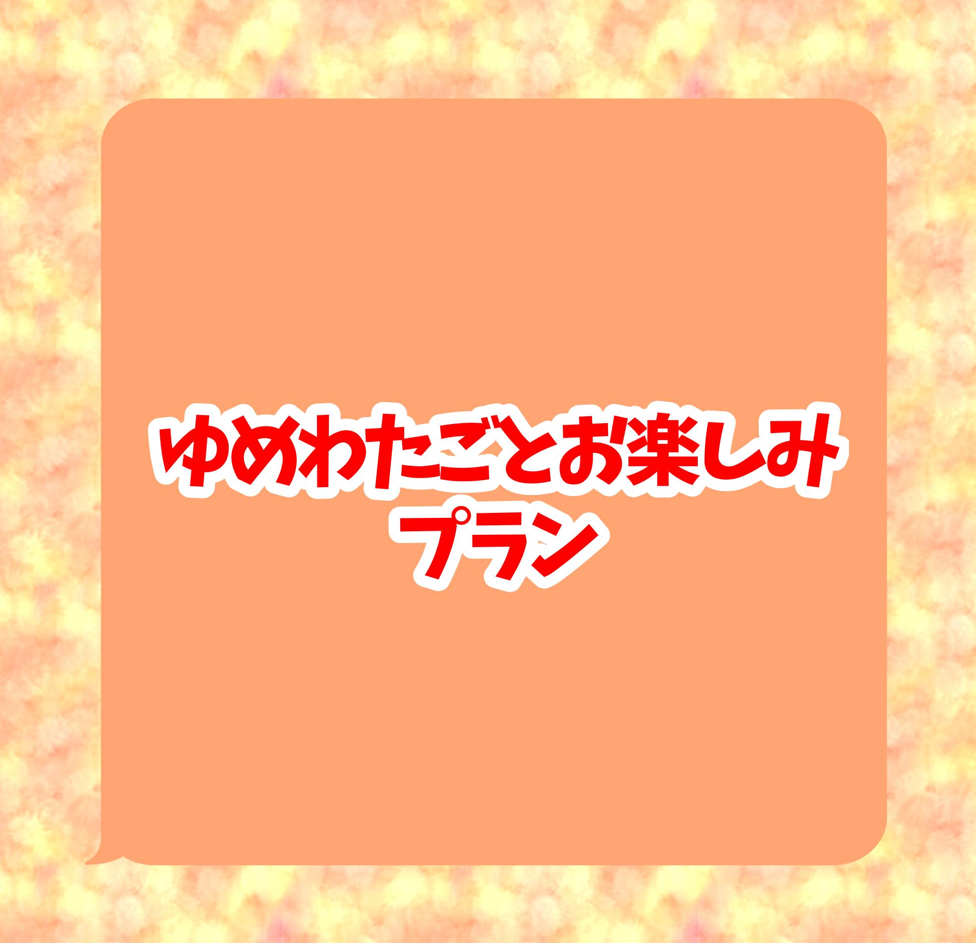 <ゆめのわたしごとお楽しみプラン>限定10名