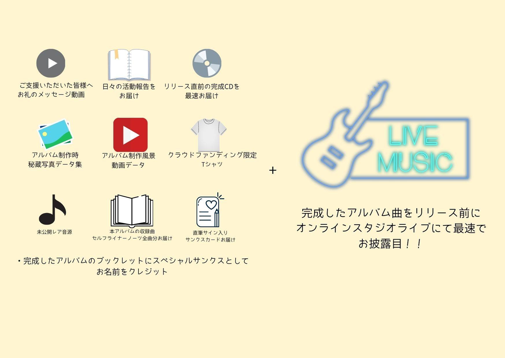 <アルバム先行お披露目オンラインライブ プラン> 限定10名