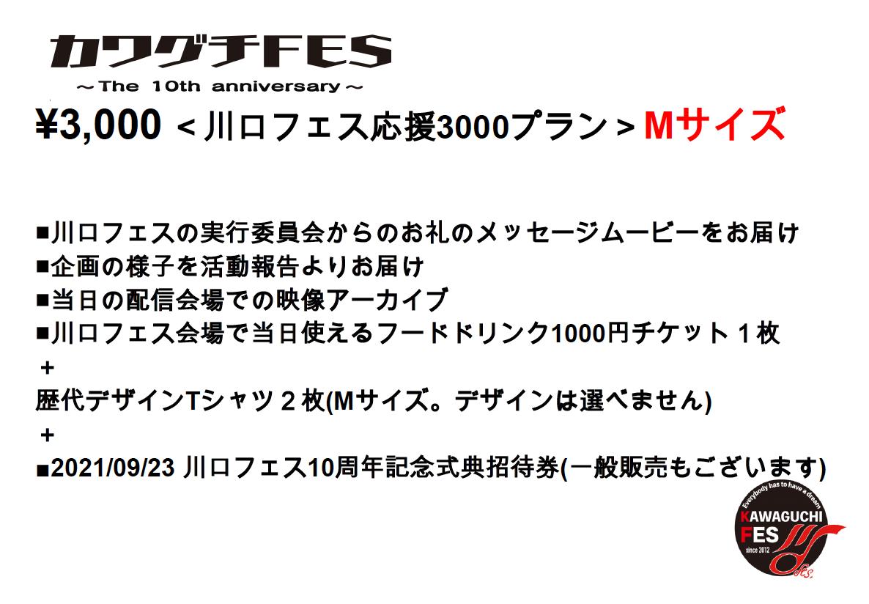 <川口フェス応援3000プラン Mサイズ>