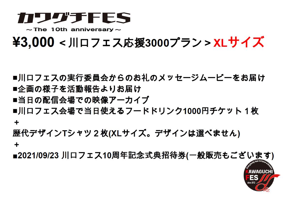 <川口フェス応援3000プラン XLサイズ>