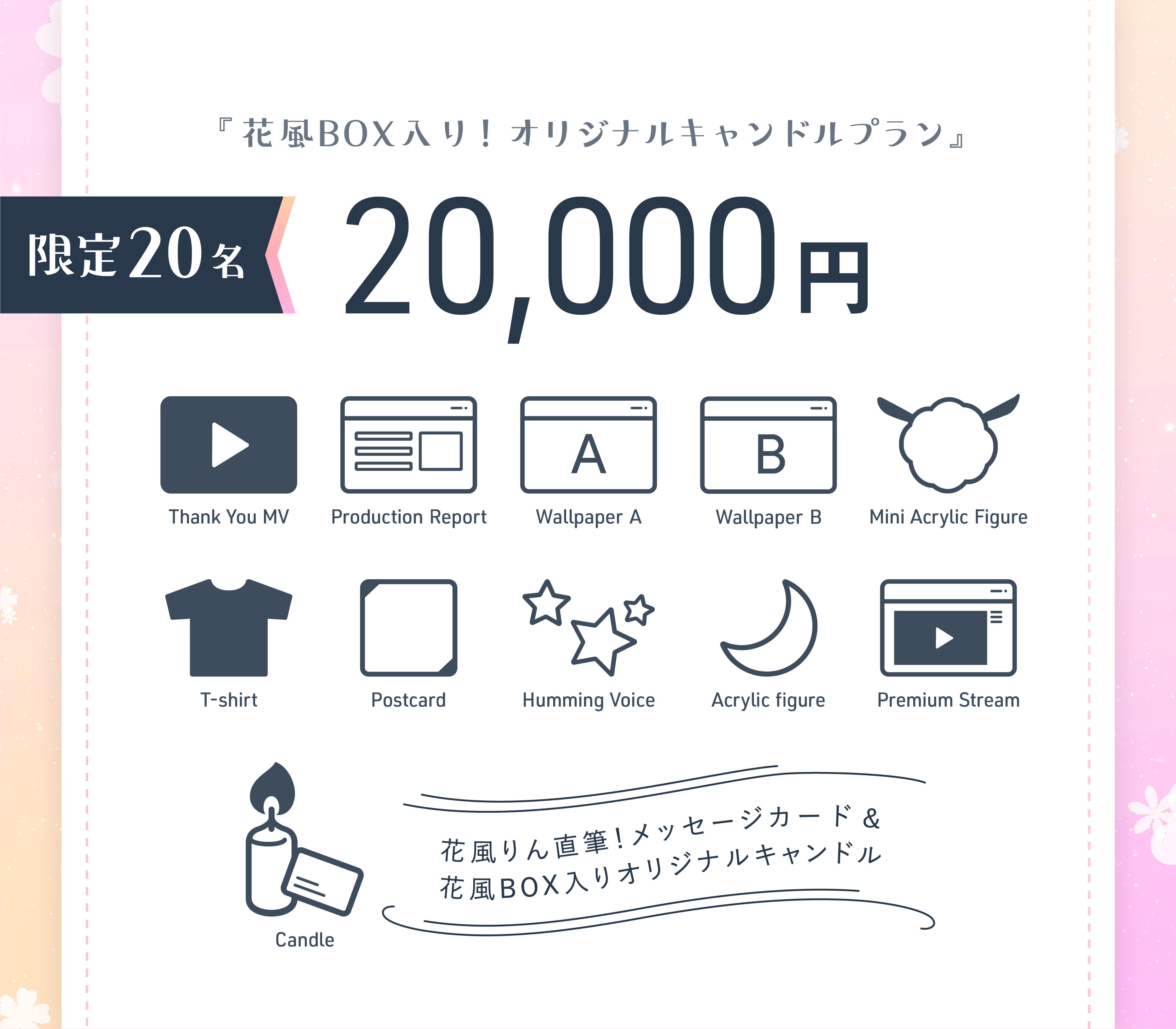 《 花風BOX入り!オリジナルキャンドルプラン 》限定20名