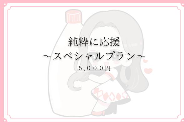 <純粋に応援 〜スペシャル〜 プラン>