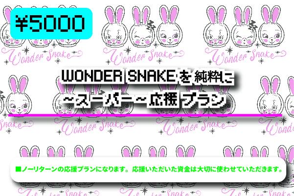 <WONDER SNAKEを純粋に応援 〜スーパー〜 プラン>