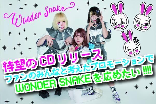 【WONDER SNAKE】のリリースを一緒に広めたい!PR実現応援プロジェクト!!